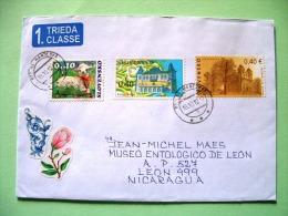 Slovakia 2012 Cover To Nicaragua - Sheep Lamb Castle Trees Flower - Eslovaquia