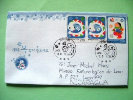 Korea South 2012 FDC Cover To Nicaragua - Year Of The Snake - Children Game - Corea Del Sur