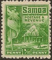 SAMOA 1921 1/2d Hut SG 153 U #CY315 - Samoa