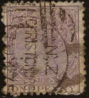 NZ 1874 1d Lilac QV Star Wmk SG 178 CP C1d U #CW23 - Used Stamps