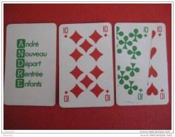 3 Cartes à Jouer Publicitaire / Chaussure André - Carte Da Gioco
