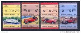 F2429- Set  MNh Funafuti-Tuvalu 1985- Cars - Auto's