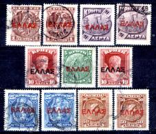 Creta-017 - 1910/11 - Y&T: N.76/82 - - Creta