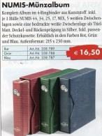 Numis Münz-Album Für 100 Münzen Mit Schuber Neu 17€ Für 1 C. Bis 2 EURO In 5 Verschiedenen Münzblätter+5 Zwischenblätter - Matériel