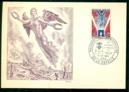 CM-Carte Maximum Card #1968-France # Histoire # 50° Anniversaire De L´Armistice (Burin Original De Decaris ) #La C - 1960-69