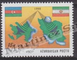 Azerbaidjan - Azerbaijan - Azerbaycan 1993 Yvert 115A, Communications Cooperation With Iran - MNH - Azerbaiján