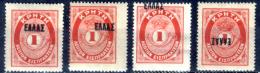 Creta-026 - 1908 - Y&T: N.10, 10a E ....., (+) - - Creta