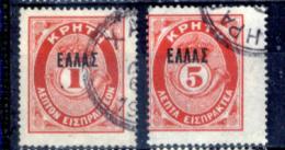 Creta-027 - 1901 - Y&T: N.10, 11 - - Creta