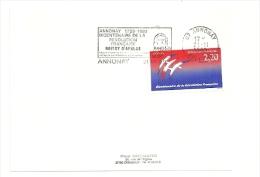 REVOLUTION = 07 ANNONAY 1989 = FLAMME Type II = SECAP Illustrée 'BOISSY D'ANGLAS - Bicentenaire ' - Marcofilia (sobres)