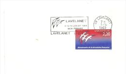 REVOLUTION = 09 LAVELANET 1989 = FLAMME Type II = SECAP Illustrée CONCORDANTE ' Bicentenaire ' - Marcophilie (Lettres)