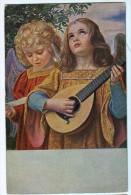 AK ENGEL Mit Musikinstrumenten  ANGEL  KUNSTVERLAG JOSEF MÜNDHEN Nr.16047.  ALTE POSTKARTE - Anges