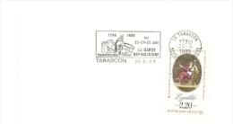 REVOLUTION = 13 TARASCON 1989 = FLAMME Type II = SECAP   Illustrée' GARDE REPUBLICAINE ' - Mechanical Postmarks (Advertisement)
