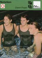 SPORT  ** NATATION  ***  DAWN FRASER *  L.CRAPP  ** A.COLQUHOUN - Swimming