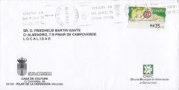Spain CASA DE CULTURA Pilar De La Horadada Alicante 1999 Cover Letra To LOCALIDAD ATM / Frama Label Franking - Poststempel - Freistempel