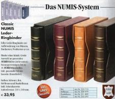 Leder-Album NUMIS+Kassette Für 15 Münzhüllen Neu 34€ Für Beliebige Münzen Oder EURO-Münz-Sets 1C.-2EURO Ohne Münzblätter - Zubehör
