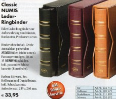 Schwarz Leder-Album NUMIS+Kassette Für 15 Münzhüllen Neu 34€ Für Beliebige Münzen/€-Münz-Sets 1C.-2EURO Ohne Münzblätter - Matériel