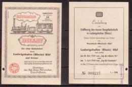 Extrazug Billet , Neustadt - Ludwigshafen , 1969