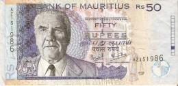 BILLETE DE MAURICIO DE 50 RUPIAS DEL AÑO 2006  (BANKNOTE) - Mauricio