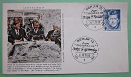 Brief FDC Briefmarken Deutschland Berlin 1964 Ersttagsbrief Kennedy - Berlin (West)