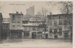 CREST  Sous La Neige Société Générale - Crest