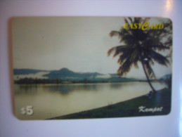 Télécarte Carte Téléphone Esays Card Cambodge - Kampot - Vue De La Rivière - Cambodge
