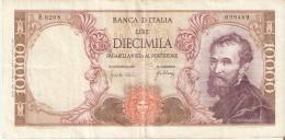 BILLETE DE ITALIA DE 10000 LIRAS DEL AÑO 1966 DE MICHELANGELO (BANKNOTE) - [ 2] 1946-… : Républic