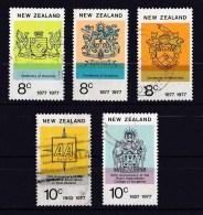 New Zealand 1977 Anniversaries Set Of 5 Used - - New Zealand