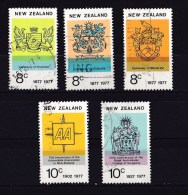 New Zealand 1977 Anniversaries Set Of 5 Used - - - New Zealand