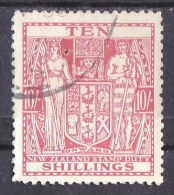 New Zealand 1931 Postal Fiscal 10s Red Used - Postal Fiscal Stamps