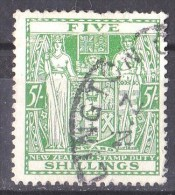 New Zealand 1931 Postal Fiscal 5s Green Used  - Light Creasing - Postal Fiscal Stamps
