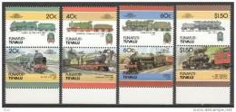F3236- Set MNH Tuvalu Funafuti 1986 Mi 85-92 MNH TRAINS - Treinen