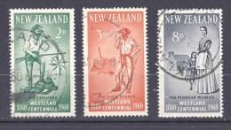 New Zealand 1960 Westland Centennial Set Of 3 Used - - - New Zealand