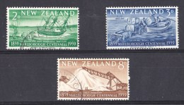 New Zealand 1959 Marlborough Centennial Set Of 3 Used - Used Stamps