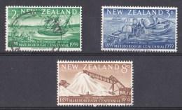 New Zealand 1959 Marlborough Centennial Set Of 3 Used - - Used Stamps