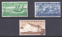 New Zealand 1959 Marlborough Centennial Set Of 3 Used - - - New Zealand