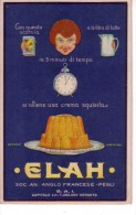 VENDO N.1 CARTOLINA PUBBLICITARIA DEI PRODOTTI (ELAH) - Advertising
