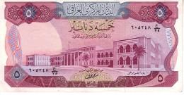 Iraq p.64  5 dinars 1973  unc
