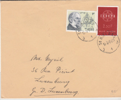 BELGIUM USED COVER 16/03/1964 COB 1111& 1282 SINT NIKLAAS VERS LUXEMBOURG EUROPA 1959 - Lettres & Documents