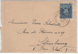 BELGIUM USED COVER 03/02/1937 COB 320 VILLERS L'EVEQUE VERS STRASBOURG - 1931-1934 Képi