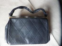 Ancien Sac  Pochette BOCHA  Cuir Noir Vintage - Purses & Bags