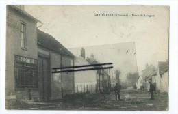 CPA - Condé Folie - Route De Longpré - France