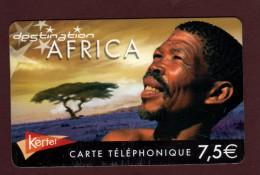 AFRICA - Carte Téléphonique KERTEL De 7,50 € - Destination AFRICA - - 2 Scannes. - Télécartes