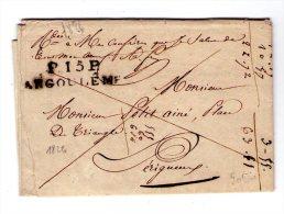 Lac D´ Angouleme  Pour  Perigueux  - 1826 - Marque P15P ANGOULEME - 2 Scan