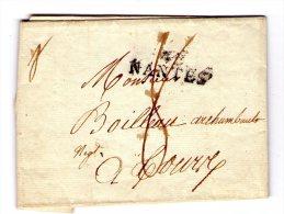 Lac De Nantes Pour Tours  - 1811 - Marque Lineaire Nantes  - 2 Scan
