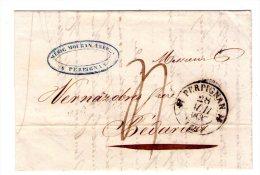 Lac De Perpignan Pour Bedarieux  - 1837 - 2 Scan