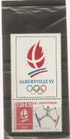 France 1991 Neuf N° 2709a   Ski Artistique ( Papier Brillant ) + Sigle Albertville - Neufs
