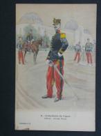 Ref3351 WA CPA Infanterie De Ligne - Officier Grande Tenue - N°8 Coll. J.H. Dessin En Couleurs - Zonder Classificatie