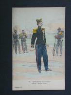 Ref3353 WA CPA Infanterie Coloniale - Officier Grande Tenue - Dessin En Couleurs N°15 - Coll. J.H. - Zonder Classificatie