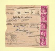 Bulletin D´expedition - Type Paix - Obernai - 1938 - Marcophilie (Lettres)