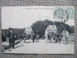 1717  CPA  Carte Charette à Boeufs Types Centre Cachet Boite Rurale Amiens Gare Albert 1907 - Agriculture